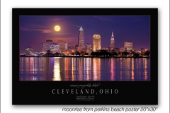 moonrise from perkins beach poster