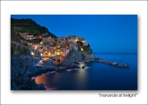 manarola at twilight