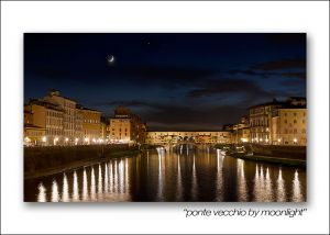 ponte vecchio by moonlight