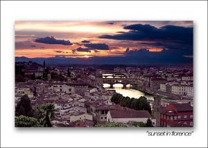sunset in florence